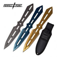 Tri Metallic Throwing Knife Set